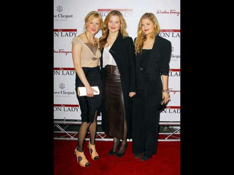 Streep's daughters (L-R) Mamie Gummer, Grace Gummer and Louisa Gummer were present at the event too. (Reuters)