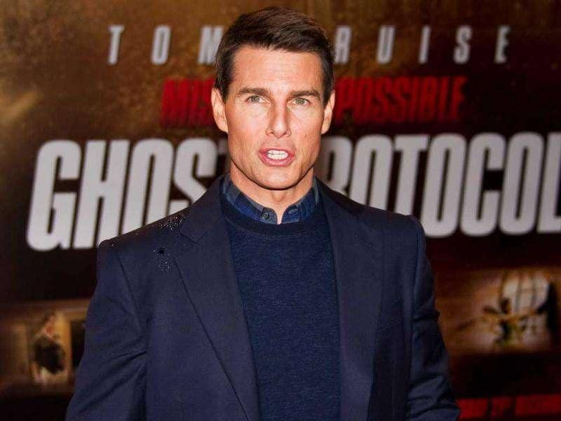 US actor Tom Cruise poses for photographers at the UK premiere of Mission: Impossible - Ghost Protocol. (AFP)
