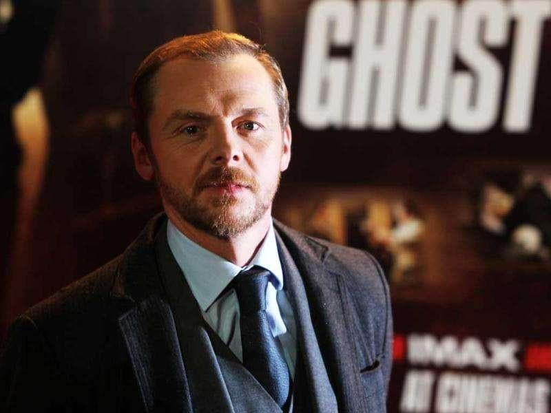 Actor Simon Pegg arrives on the red carpet for the UK Premiere of Mission: Impossible Ghost Protocol, at a central London cinema. (AP)