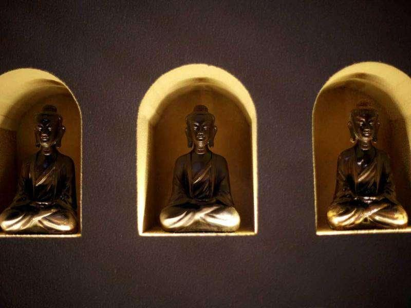 Chocolate-made religious figures are displayed at a new chocolate theme-park in Shanghai, China. AP Photo/Eugene Hoshiko