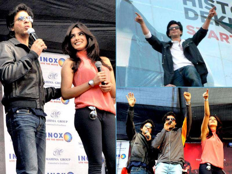 King Khan promoted Don 2 with co-star Priyanka Chopra in different cities. Here's a look.