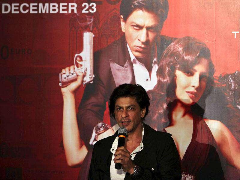 Bollywood actor Shah Rukh Khan speaks during a promotional event for his upcoming movie Don 2 in Hyderabad. (AP)