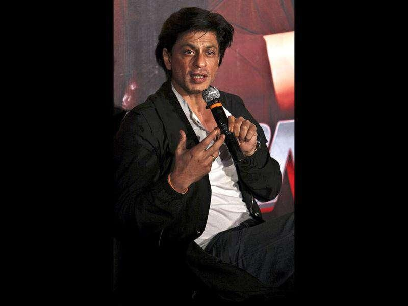 SRK during promotion of his film Don 2 in Hyderabad.