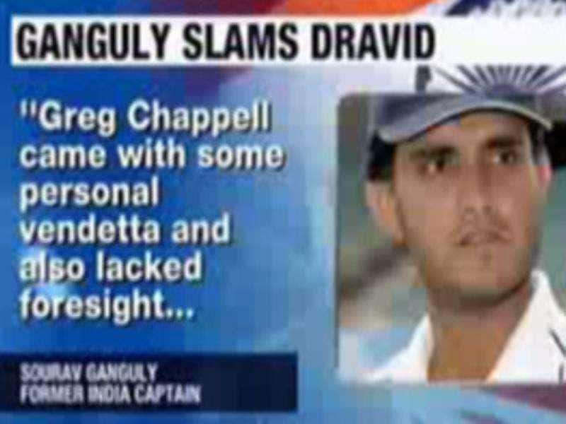 Dravid didn't have guts to stop Chappell: Ganguly