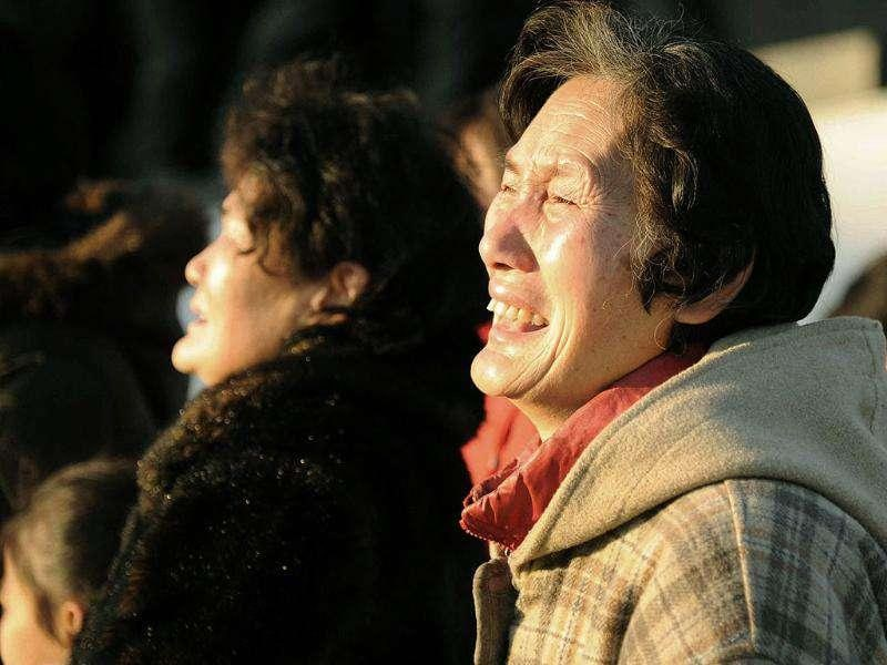 A North Korean woman cries following news of North Korean leader Kim Jong Il's death after 17 years in power, at Mansudae Hill in Pyongyang, North Korea.