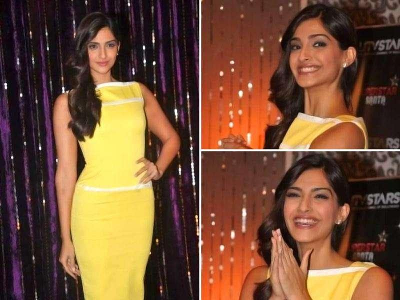 Sonam Kapoor looked bright as sunshine she was spotted at the UTV stars Superstar Santa photo-shoot. Check out the fashionista as she dons a festive look for the season.