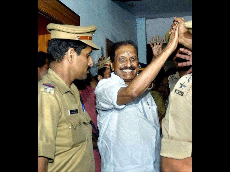 Seven-time legislator and veteran leader of the Kerala Congress (Pillai) R Balakrishna Pillai was sentenced to one year's imprisonment on corruption charges. But he walked free in November this year.