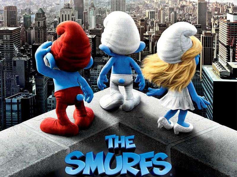 The Smurfs: Worldwide box office: $559.8 millionBased on Belgian cartoonist Peyo's little blue cartoon characters, this kids' film starring Neil Patrick Harris is a mix of animation and live-action in 3D, with international markets comprising 75 percent of the audience.