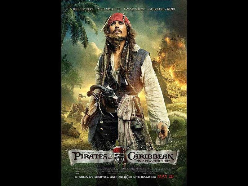 Pirates of the Caribbean: On Stranger Tides : Worldwide box office: $1.04 billionThe fourth film in the Pirates of the Caribbean franchise stars Johnny Depp and Penelope Cruz. On Stranger Tides is the eighth highest-grossing film of all time.