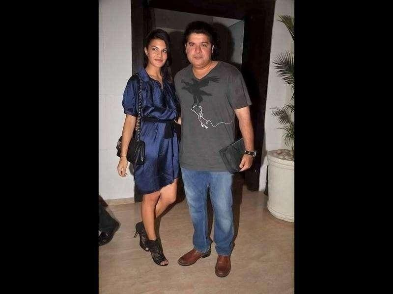 Farah Khan's brother Sajid Khan with his rumoured girlfriend Jacqueline Fernandes.