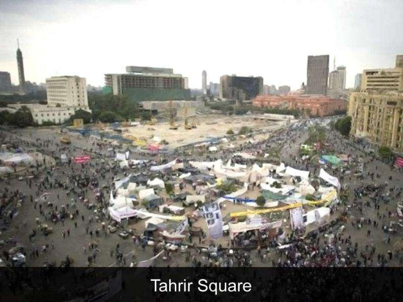 Tahrir Square: The focal point of the 2011 Egyptian revolution. Cairo police fought protesters demanding an end to army rule, with many casualties in the worst violence since the uprising that toppled president Hosni Mubarak.