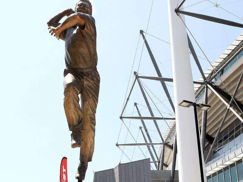 Statue of Australian cricketer Shane Warne unveiled. The 2.5-metre tall likeness by sculptor Louis Lauman depicts leg-spinner Warne in full flight erected on the Parade of Champions outside the Melbourne Cricket Ground in Melbourne.