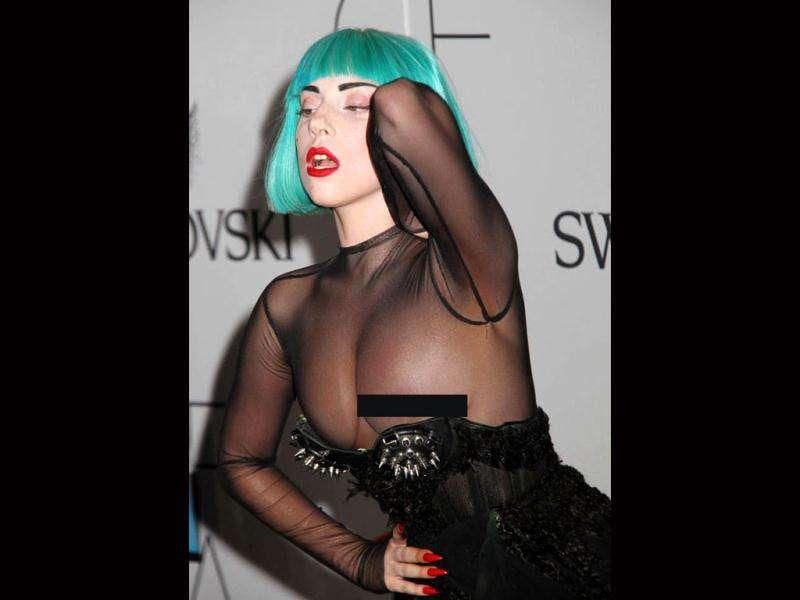 Lagy Gaga inadvertently explosed her nipple at CFDA Awards in June.