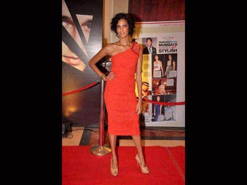 Delhi Belly star Poorna Jagannathan looked red hot at the awards. (Photo: Prodip Guha)