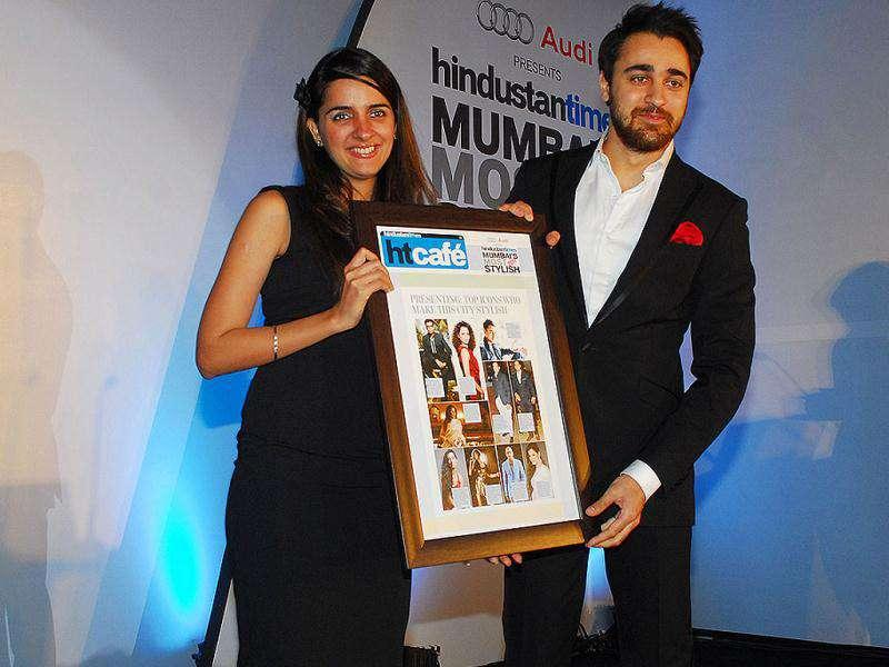 Actor Imran Khan, dapper in a well-fitted suit scored the Reader's Choice Award for the Most Stylish Male. Though presenter, Shruti Seth, made sure he didn't get away with all the credit. (Photo: Prodip Guha)