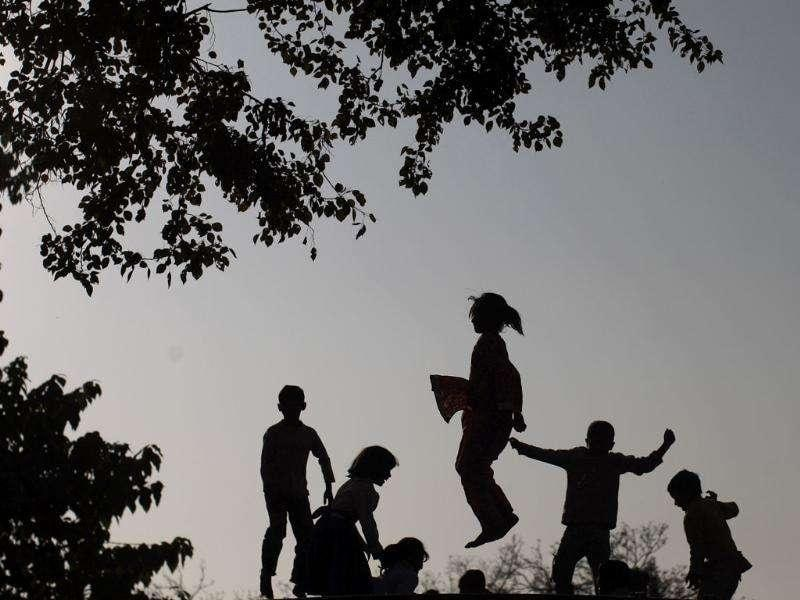 Pakistani children enjoy jumping on a trampoline, placed in a Christian neighbourhood in preparation for the upcoming Christmas holiday in Islamabad, Pakistan. AP Photo