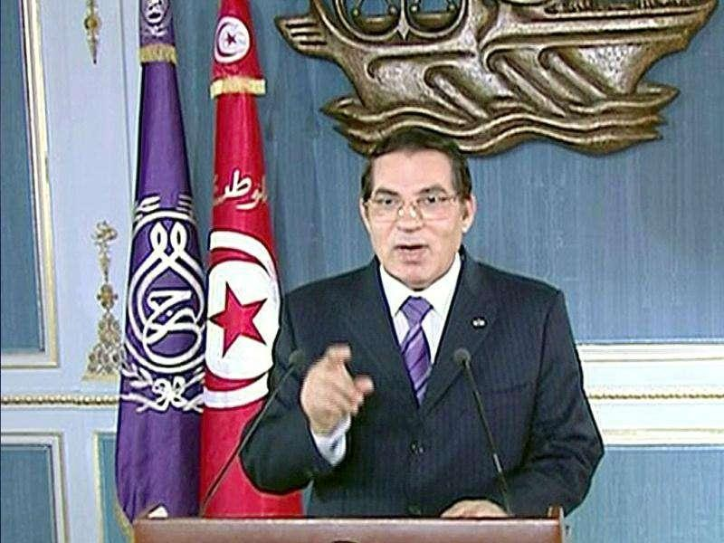 Tunisia's President Zine al-Abidine Ben Ali was forced to flee the country with his family, following a month of violent protests against his rule. The interim Tunisian government asked for Interpol to issue an international arrest warrant, charging him for money laundering and drug trafficking. He and his wife were sentenced in absentia to 35 years in prison on 20 June 2011. Reuters