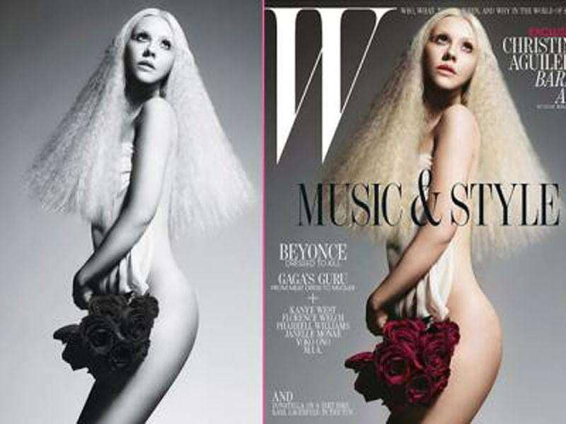 Christina Aguilera featured in a nude cover in W magazine.