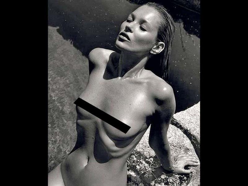 Supermodel Kate Moss stripped for a shoot for the latest Pirelli calendar. She was photographed by ex-boyfriend Mario Sorrenti.