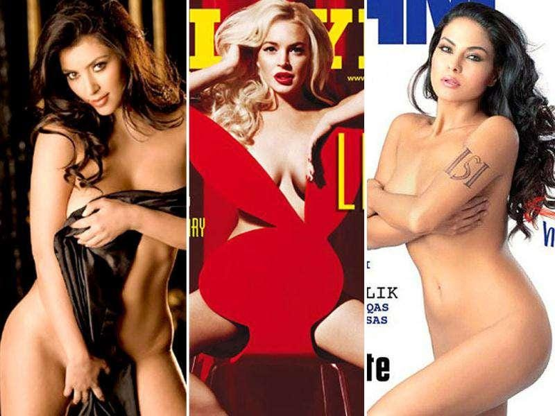 Lindsay Lohan grabbed eyeballs with her red-hot Playboy spread. Scarlett Johansson's nude pics leaked online. Rihanna annoyed a farmer by going topless in an Irish farm. Veena Malik ruffled many a feather with her nude cover on FHM. Here's a look at all the nude scandals that dogged celebs.