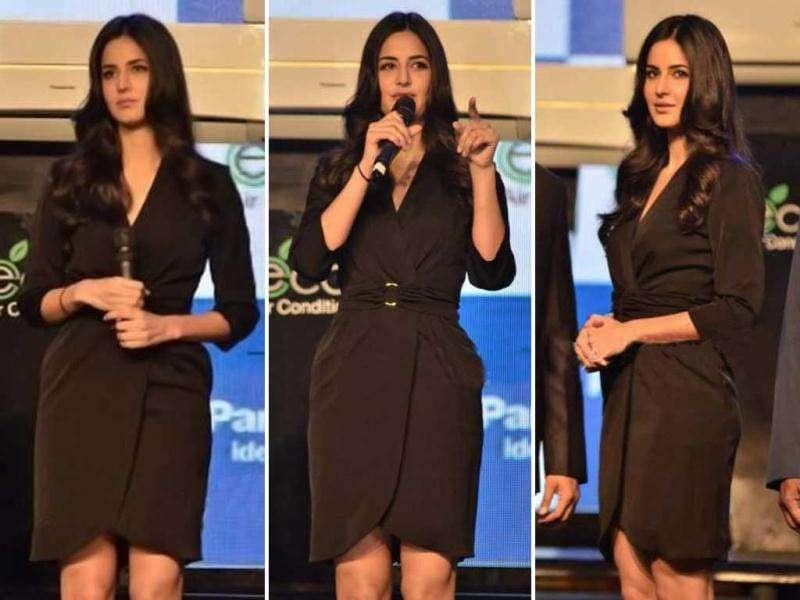 Katrina Kaif looked drop dead gorgeous in a classic black dress at a launch event in Mumbai recently. The stunner will next be seen in a rustic avatar in Karan Johar's Agneepath. But here she is defining modernity. Have a look.