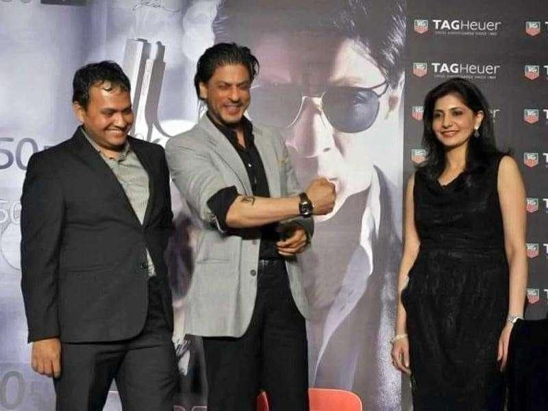 Shah Rukh 'dons' a Tag Heur watch.