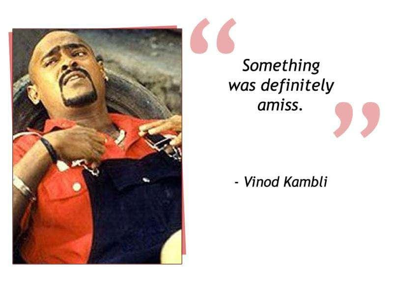 Former Indian cricketer Vinod Kambli created quite a flutter while claiming that there was something amiss in India's loss in the '96 world cup semi final versus Sri Lanka.