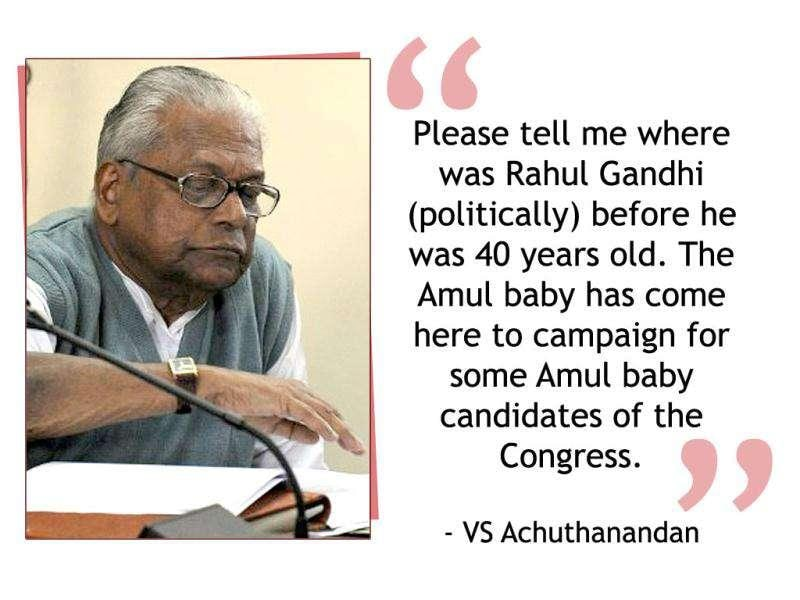 VS Achuthanandan, former CM of Kerala on Rahul Gandhi coming to Kerala to campaign for the Congress during the state elections held in April this year.