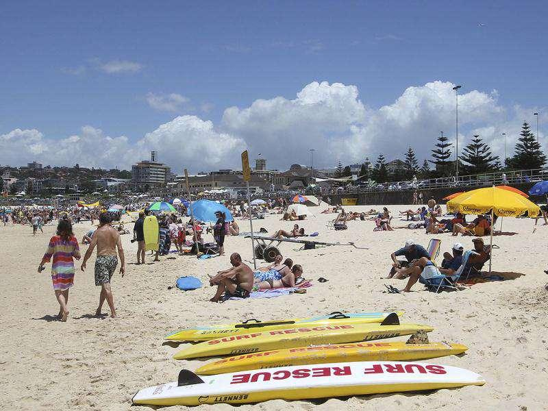 A Christmas Day view of Bondi Beach in Sydney, Australia. AP Photo