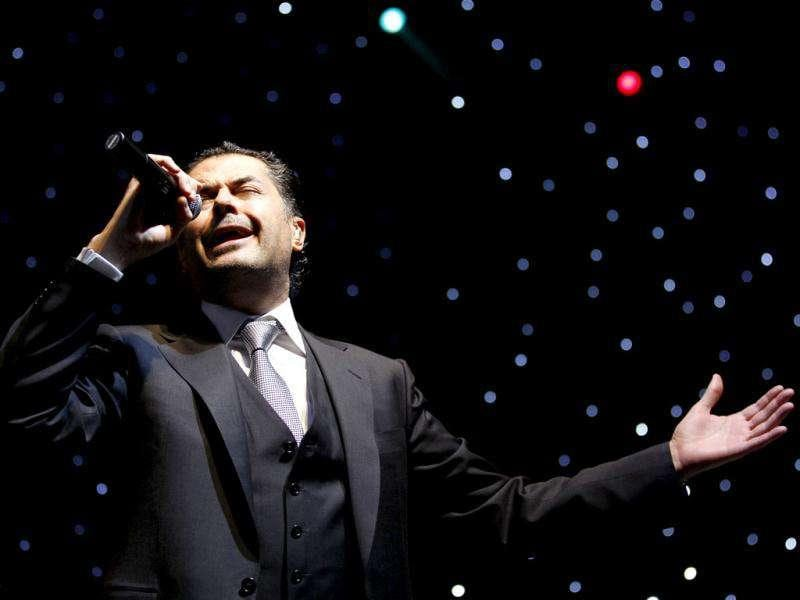 Lebanese singer Ragheb Alama performs as part of week-long New Year celebrations in Manama.