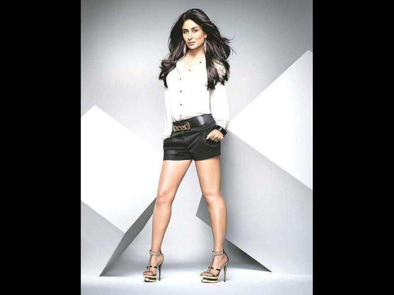 What legs! Kareena pulls off these hot pants. And how!