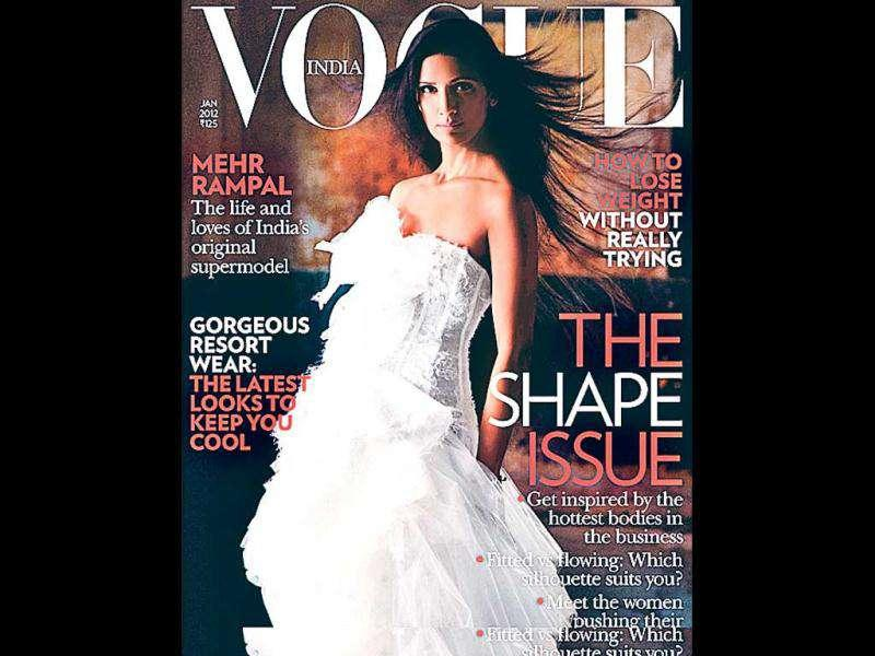 Former super model Mehr Rampal graces the cover of Vogue, and quite befits the issue that talks about shape.