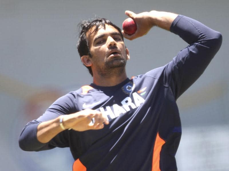 Zaheer Khan bowls during a training in Sydney, Australia. AP Photo/Rob Griffith