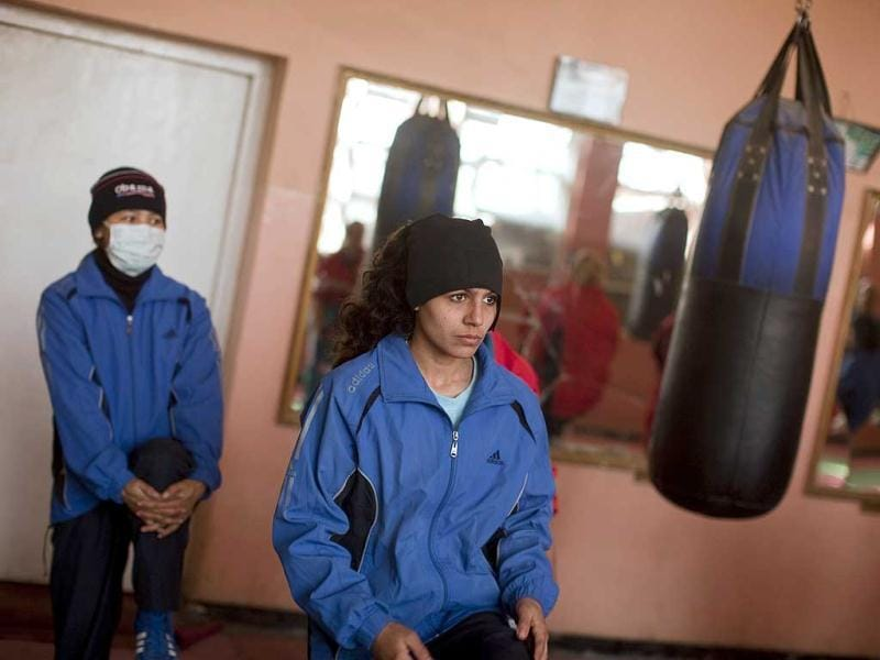 Shabnam Rahimi practices in a boxing club in Kabul. Female boxing is still relatively unusual in most countries, but especially in Afghanistan, where many girls and women still face a struggle to secure an education or work, and activists say violence and abuse at home is common. REUTERS