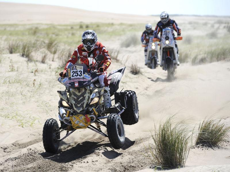 Polish Lukasc Laskawiec rides his quad during the Stage 1 of the 2012 Dakar Rally between Mar del Plata and Santa Rosa de la Pampa, Argentina.