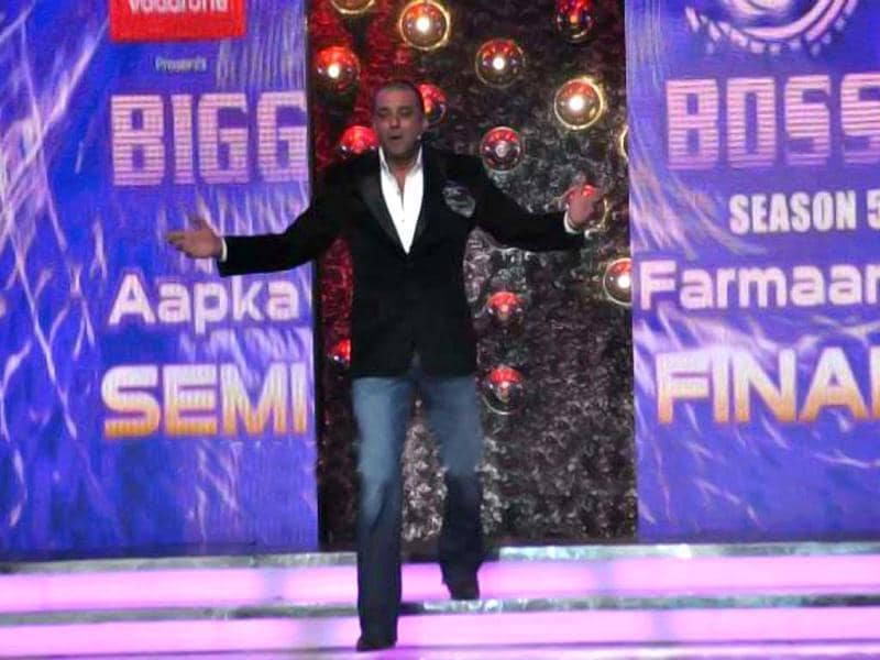 Actor Sanjay Dutt enters the show.
