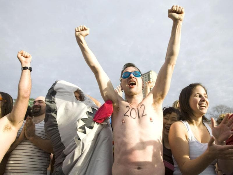New Year's Day Polar Bear Swim in Vancouver, British Columbia.(Reuters/Ben Nelms)