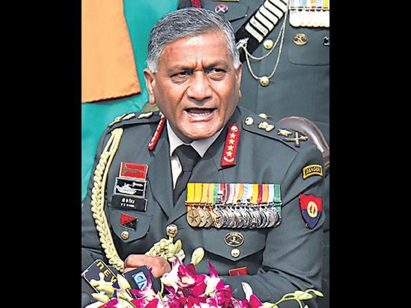 Army chief General VK Singh puts up a fight.