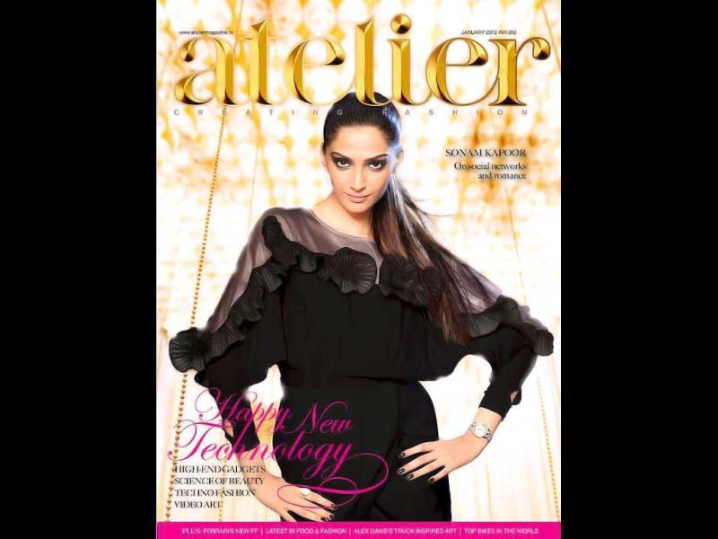 Atelier India chose fashionista Sonam Kapoor as the cover girl for their January 2012 edition.