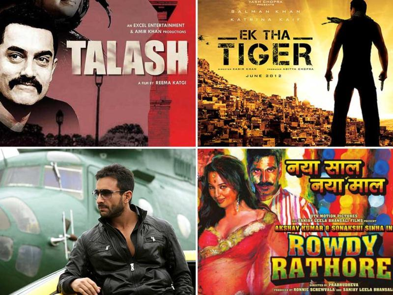 While Players will be the first to start the Bollywood game this year, Agent Vinod Saif will lock horns with Tezz Ajay Devgn on March 23. And we wonder if Aamir's Talaash for a hit movie would be successful? Check out the most-awaited thrillers of 2012.