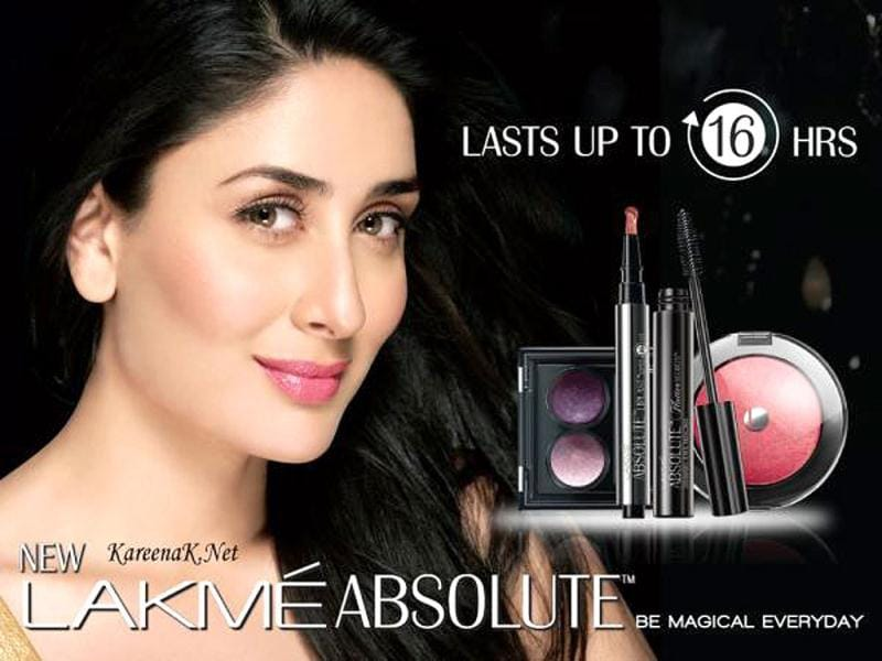 Kareena Kapoor in her new ad for the Indian cosmetic company.