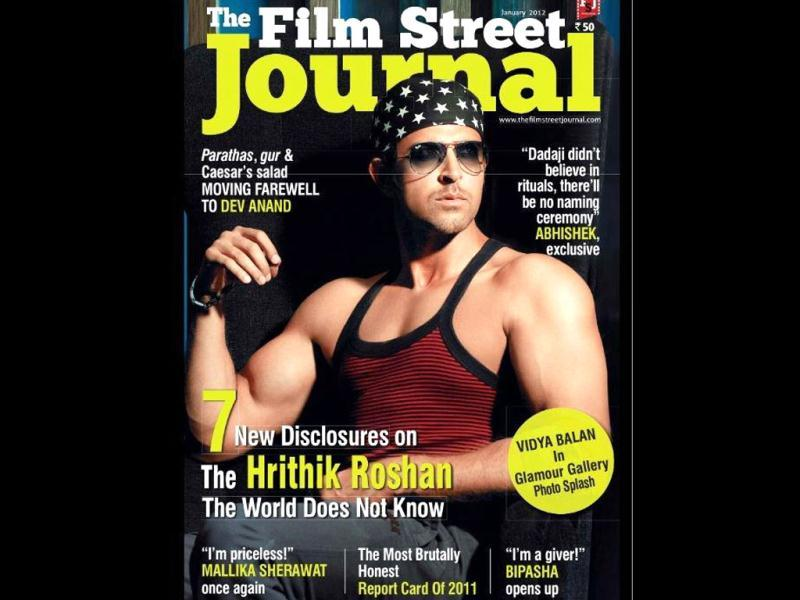 Hrithik Roshan looks hot on the cover of The Film Street Journal. To know more about him look out for the edition.