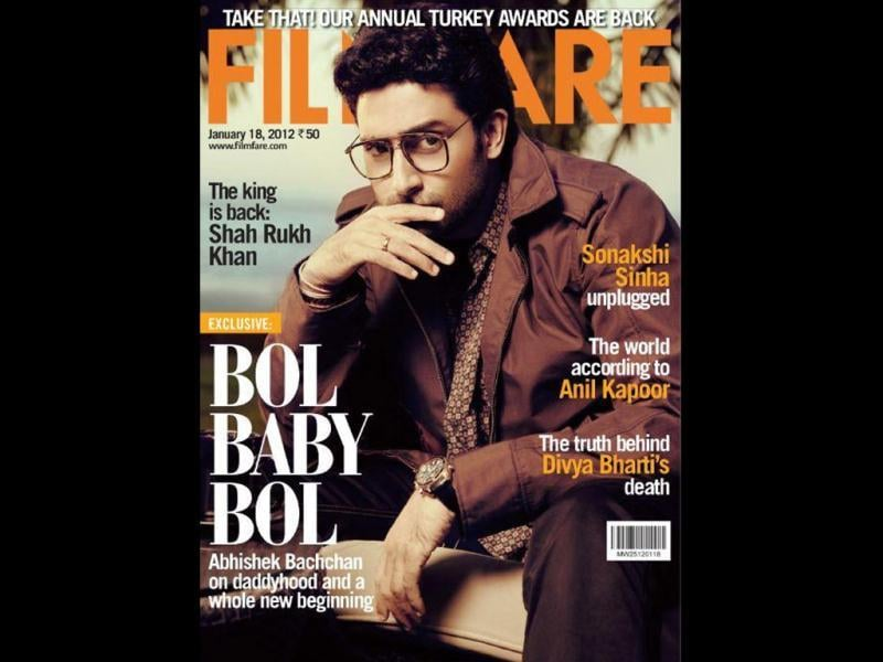 Abhishek Bachchan will be seen on Filfare's cover.