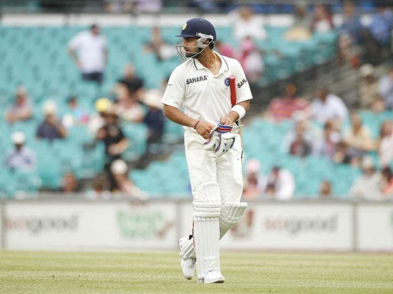 Virat Kohli walks away from the wicket after being dismissed by Australia's James Pattinson during the second cricket Test, at the Sydney Cricket Ground. (Reuters)