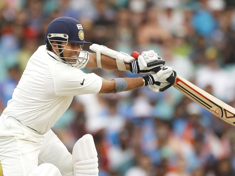 Sachin Tendulkar plays a shot against Australia during the second cricket Test, at the Sydney Cricket Ground. (Reuters)