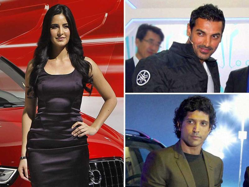 The 11th Auto Expo saw some of the biggest names from the B-town including Katrina Kaif, John Abraham, Farhan Akhtar, Amitabh Bachchan and Ranbir Kapoor adding glamour to the car show. Here's a look.
