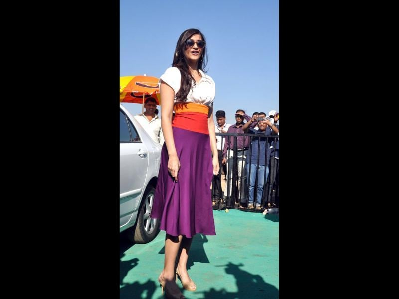 Sonam in a colourful outfit looks stylish yet again!