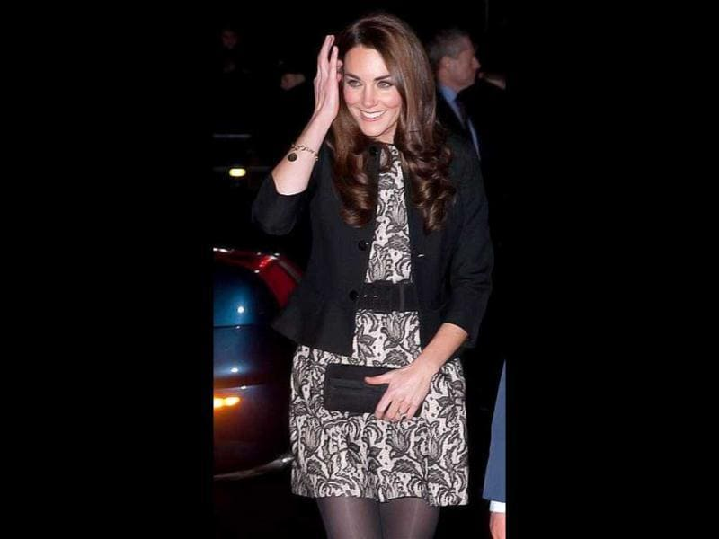 Kate Middleton donned a black and cream lace mini-dress from Zara at Gary Barlow's charity concert at the Royal Albert Hall.