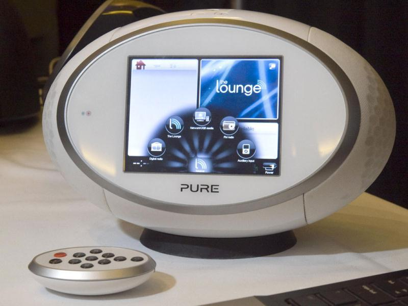A Sensia 200D internet radio by Pure is displayed during CES Unveiled. The device is integrated with the Pure music service that went online this week in the UK.  REUTERS.