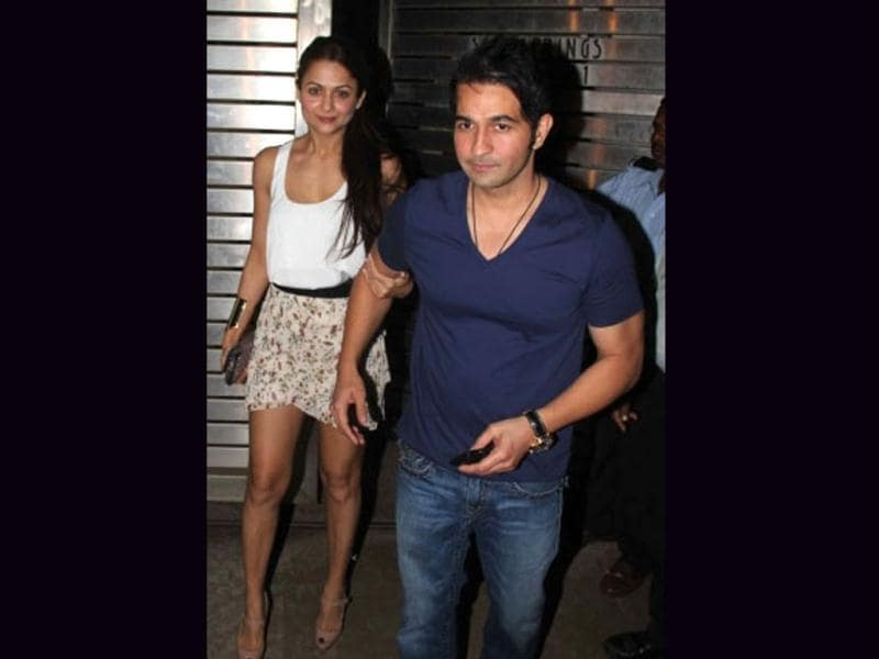 Amrita Arora was also spotted partying.